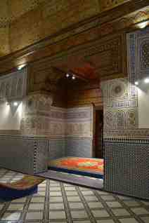 Carpets, mosaics, painted plaster and woodwork at Dar Si Said Museum