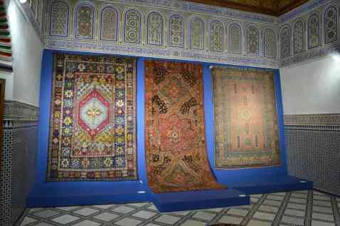 Carpets on display at Dar Si Said Museum
