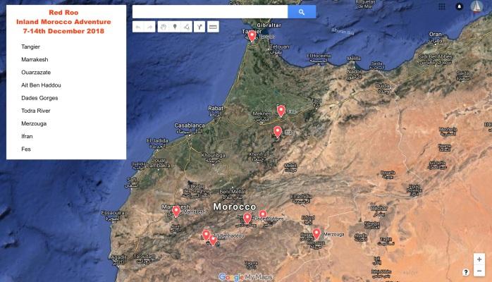 inland morocco map mj